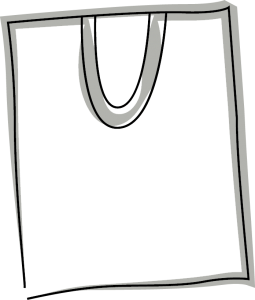 Skizze einer Baumwolltragetasche