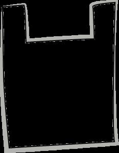 Skizze einer Hemdchen Tragetasche