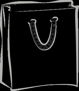 Skizze einer Baumwolltragetasche mit gedrehter Papierkordel
