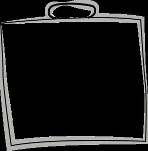 Skizze einer Kunststofftragetasche
