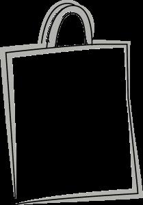 Skizze einer NON WOVEN - Tragetasche