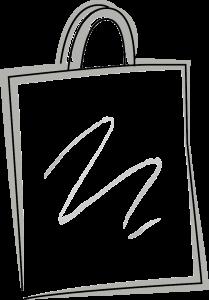 Skizze einer NON WOVEN - Tragetasche - laminiert