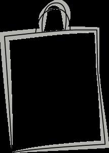 Skizze einer Tragetasche mit Schlaufe