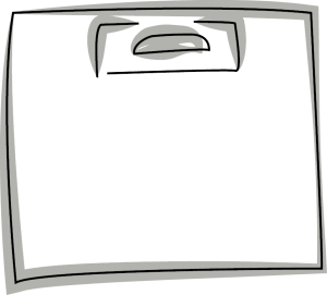 Skizze einer DKT Tragetasche mit Verstärkungsblatt