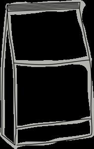 Skizze einer Verpackung