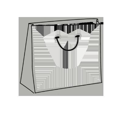Skizze einer exklusiven Papiertasche