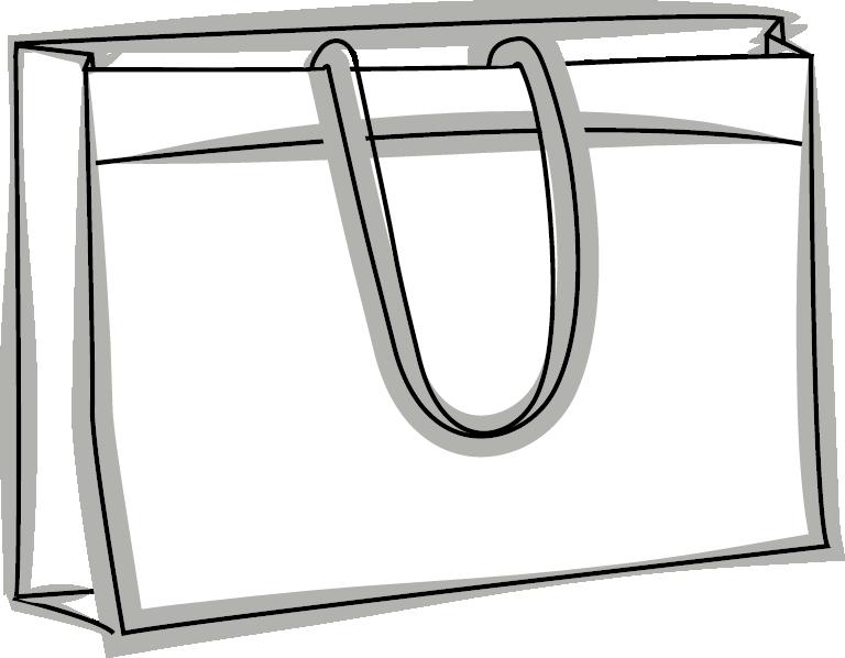 Skizze einer exklusiven Woven Tasche