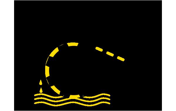 Schaubild der Funktionsweise des Tiefdrucks in den DRUFA Farben