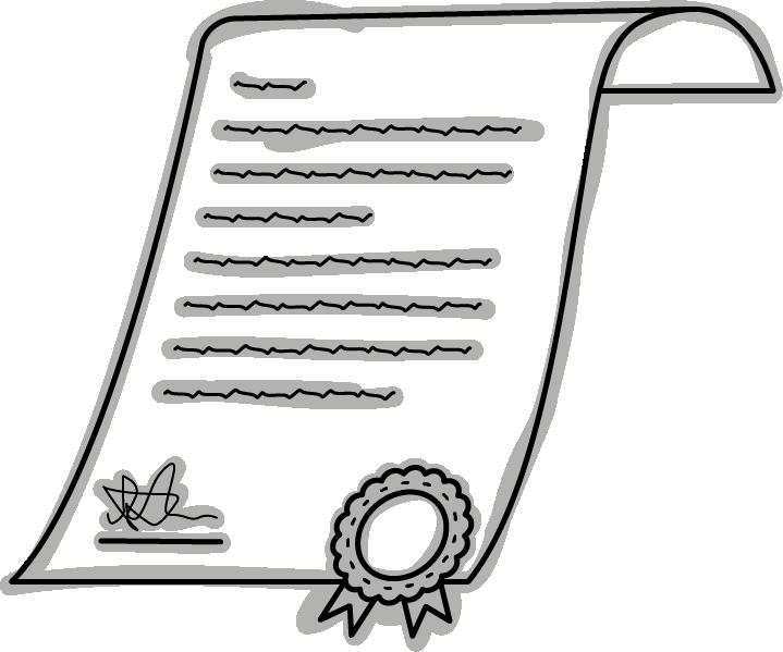 Skizze eines Zertifikats