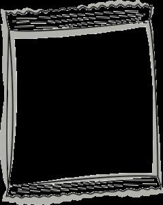 Skizze einer Verpackung - Flachbeutel