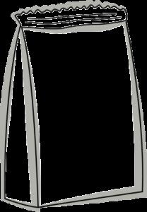 Skizze eines Standbeutels