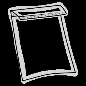 Skizze einer Papuer Tasche - Ähnelt einem Papierumschlag für A4 Briefe